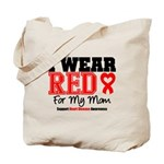 I Wear Red Mom Tote Bag