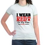 I Wear Red Mom Jr. Ringer T-Shirt