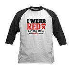 I Wear Red Mom Kids Baseball Jersey