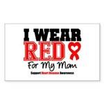 I Wear Red Mom Rectangle Sticker 10 pk)