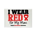 I Wear Red Mom Rectangle Magnet