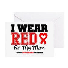 I Wear Red Mom Greeting Card