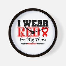 I Wear Red Mom Wall Clock