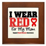 I Wear Red Mom Framed Tile