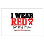 I Wear Red Mom Large Poster
