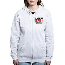 I Wear Red Husband Zip Hoodie