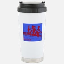 blue red rowers Stainless Steel Travel Mug