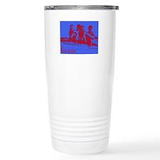 blue red rowers Travel Coffee Mug