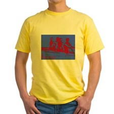 blue red rowers T