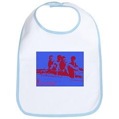 blue red rowers Bib