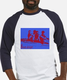blue red rowers Baseball Jersey