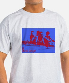 blue red rowers T-Shirt