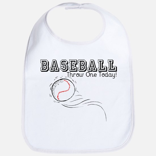 Baseball Throw One Today Bib