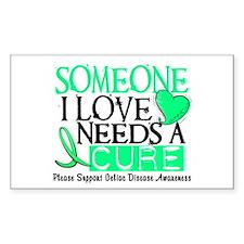Needs A Cure CELIAC DISEASE Rectangle Decal