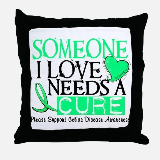 Needs A Cure CELIAC DISEASE Throw Pillow