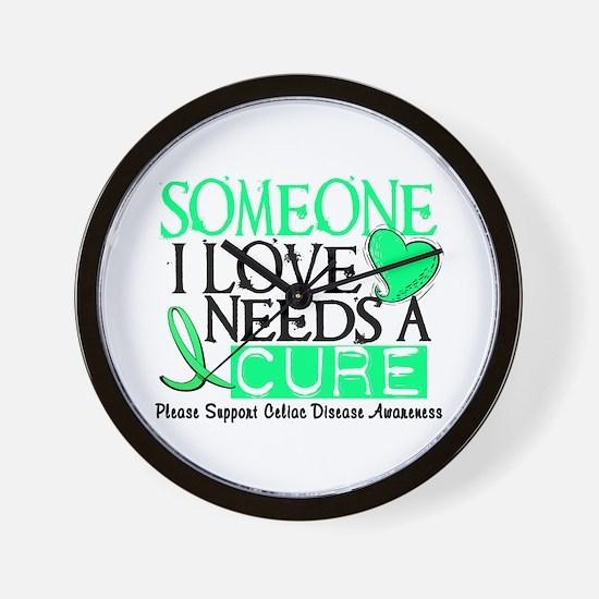 Needs A Cure CELIAC DISEASE Wall Clock