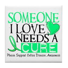 Needs A Cure CELIAC DISEASE Tile Coaster