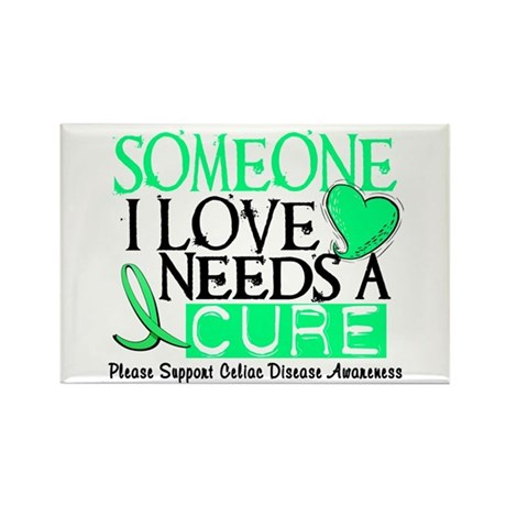 Needs A Cure CELIAC DISEASE Rectangle Magnet (10 p