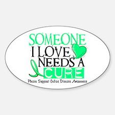 Needs A Cure CELIAC DISEASE Oval Sticker (10 pk)
