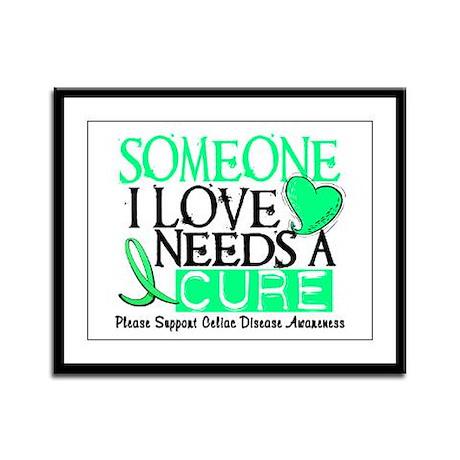 Needs A Cure CELIAC DISEASE Framed Panel Print