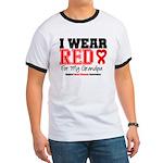 I Wear Red Grandpa Ringer T