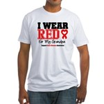 I Wear Red Grandpa Fitted T-Shirt