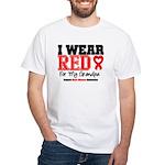 I Wear Red Grandpa White T-Shirt