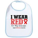 I Wear Red Grandpa Bib