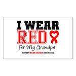 I Wear Red Grandpa Rectangle Sticker 10 pk)