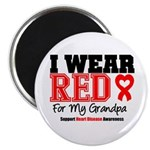 I Wear Red Grandpa Magnet