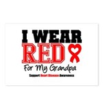 I Wear Red Grandpa Postcards (Package of 8)