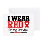 I Wear Red Grandpa Greeting Cards (Pk of 20)