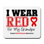 I Wear Red Grandpa Mousepad