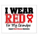 I Wear Red Grandpa Small Poster