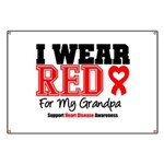 I Wear Red Grandpa Banner