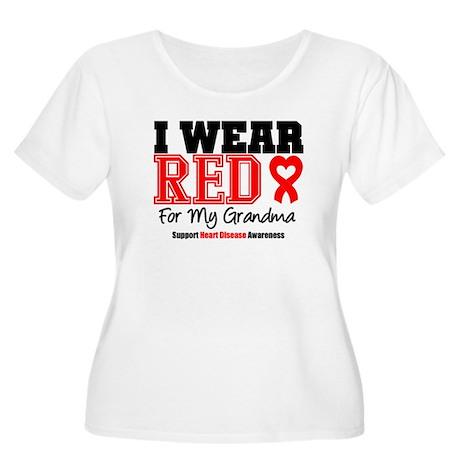 I Wear Red Grandma Women's Plus Size Scoop Neck T-