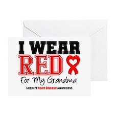 I Wear Red Grandma Greeting Card