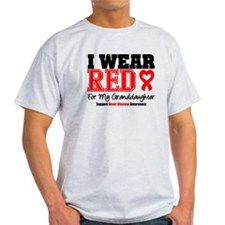 I Wear Red Granddaughter T-Shirt