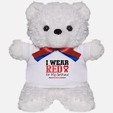I Wear Red Girlfriend Teddy Bear