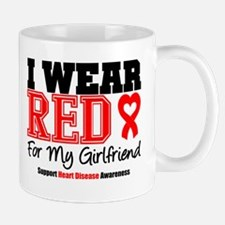 I Wear Red Girlfriend Mug