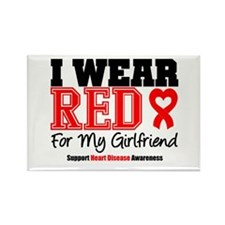 I Wear Red Girlfriend Rectangle Magnet
