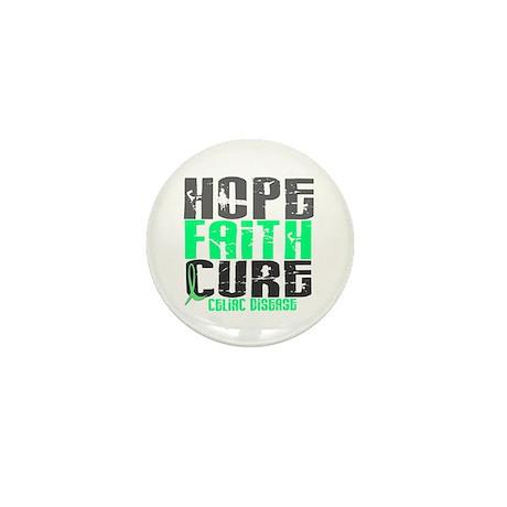 HOPE FAITH CURE Celiac Disease Mini Button