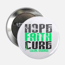 """HOPE FAITH CURE Celiac Disease 2.25"""" Button"""
