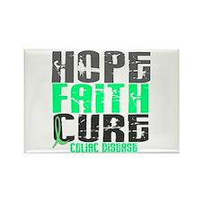 HOPE FAITH CURE Celiac Disease Rectangle Magnet