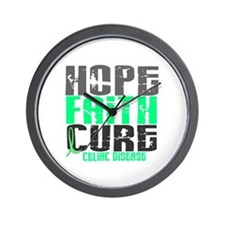 HOPE FAITH CURE Celiac Disease Wall Clock