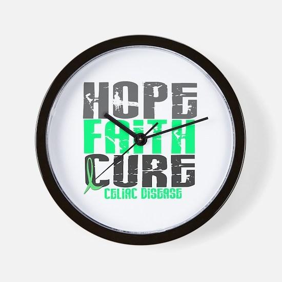 HOPE FAITH CURE Celiac Disease Wall Clock