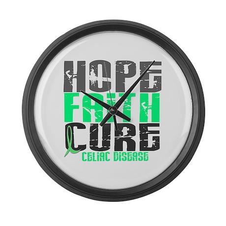 HOPE FAITH CURE Celiac Disease Large Wall Clock