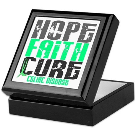 HOPE FAITH CURE Celiac Disease Keepsake Box