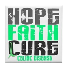 HOPE FAITH CURE Celiac Disease Tile Coaster