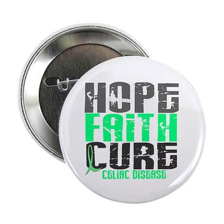 """HOPE FAITH CURE Celiac Disease 2.25"""" Button (100 p"""
